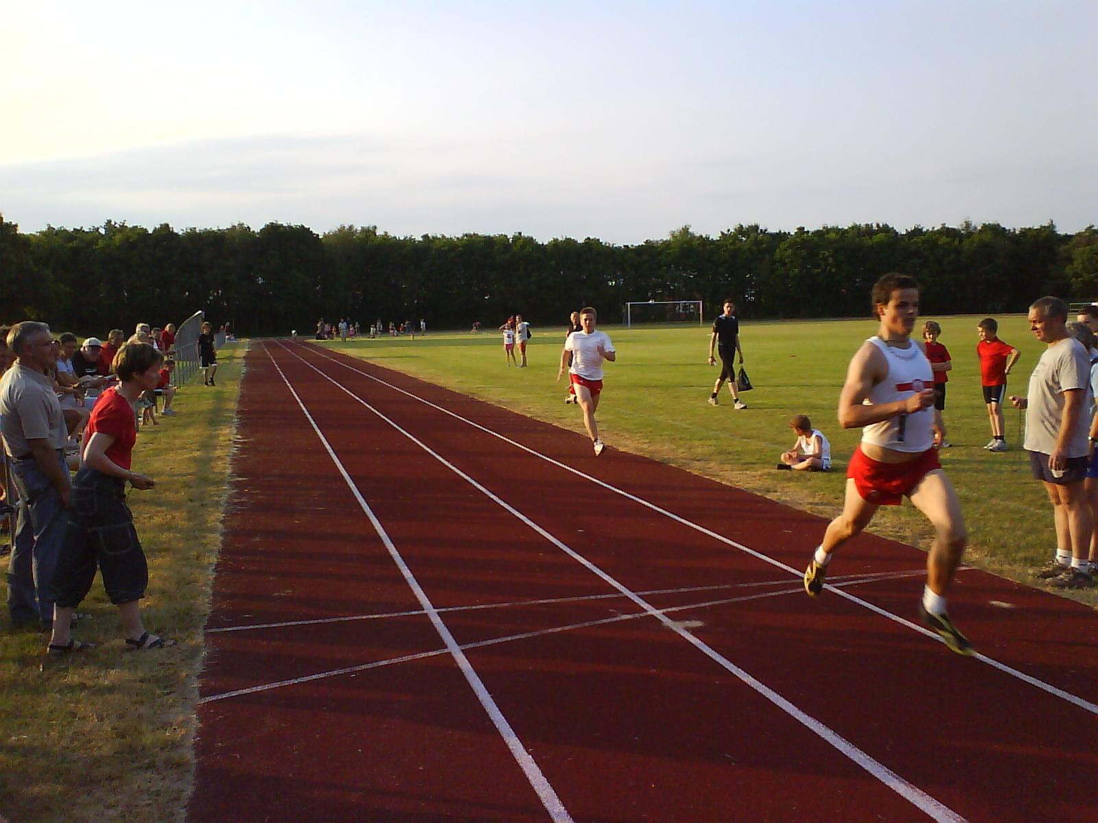 Jeppe og Christian på 100m