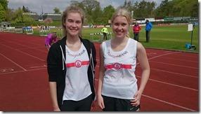 Maja og Anne er optimistiske før starten på 800 m