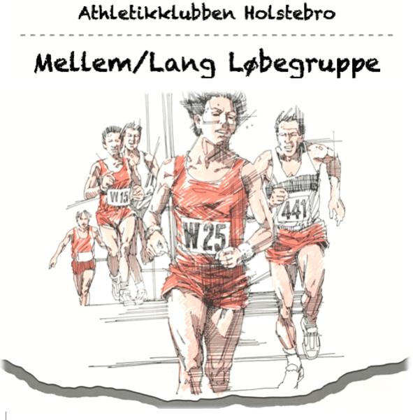 Løbegruppe mellem/lang